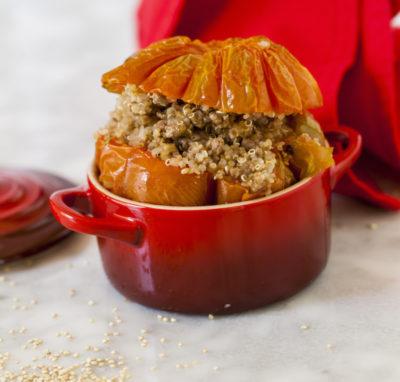Pomodori ripieni di carne e quinoa